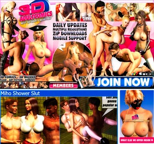 Good paid xxx site for the fans of 3d porn content