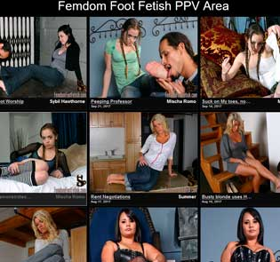Nice premium adult site for the lovers of feet fetish porn stuff